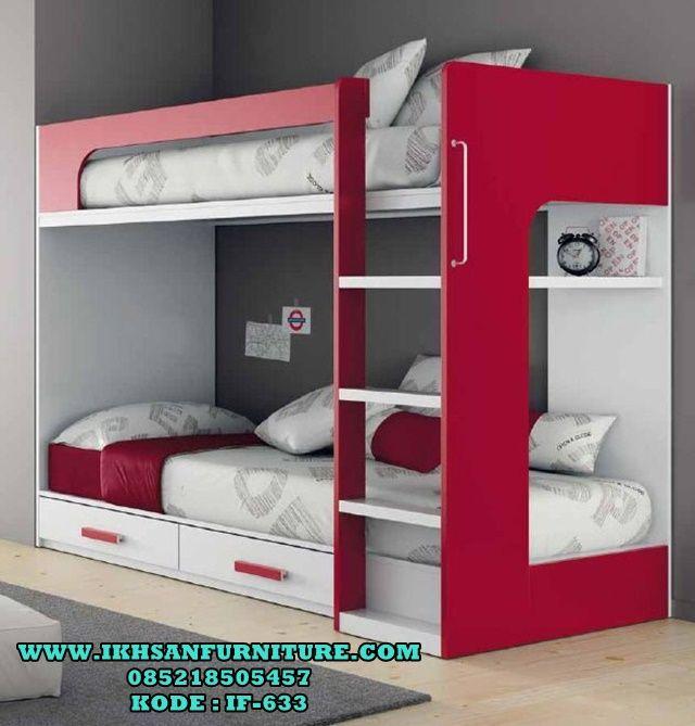 Tempat Tidur Anak Tingkat Minimalis Murah Cat Duco IF-633