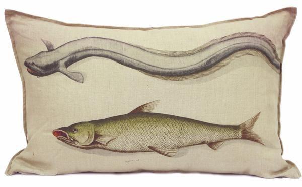 Yellow Fish Cushion