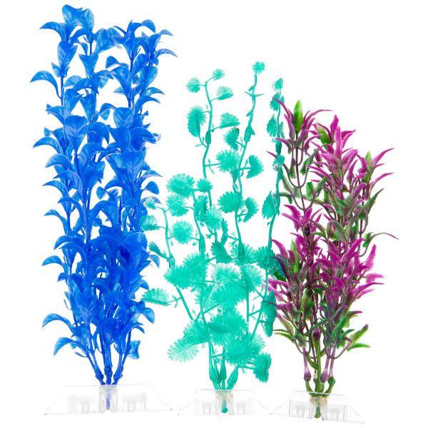 Top Fin® Artificial Aquarium Plant Variety Pack ...