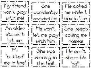 What the Teacher Wants!: Tattling - use these cards to act out scenarios and come up with possible solutions