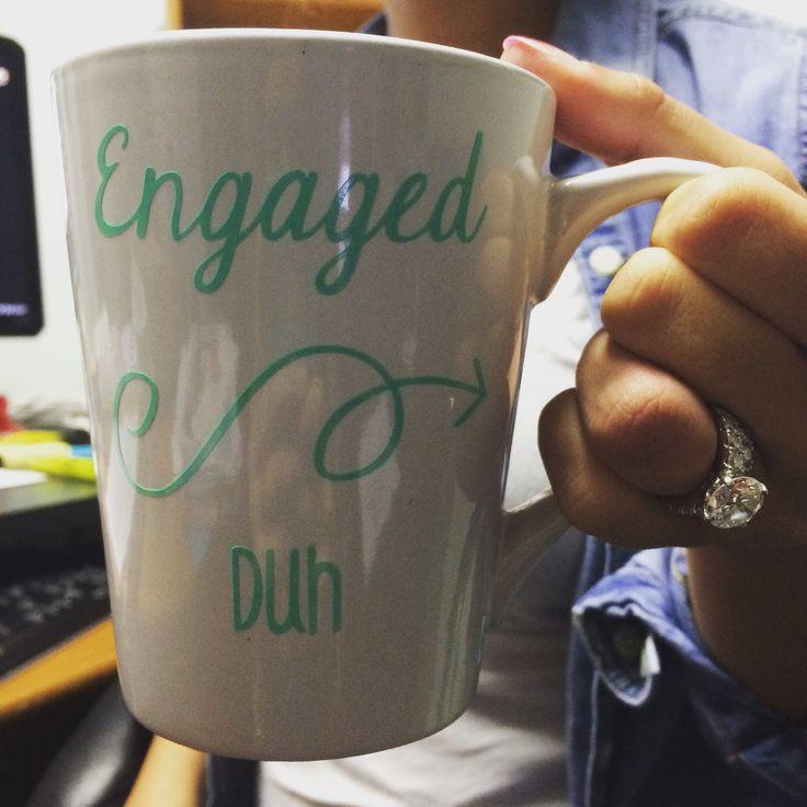 Engaged Mug || Bride to Be Mug || Coffee Mug || Engaged || Engagement Announcement || Engagement Gift || 14oz || 20oz by CustomDesignsByJenna on Etsy