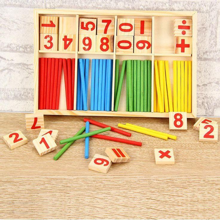 Montessori Mathematical Intelligence Stick Preschool Educational Toys #Unbranded