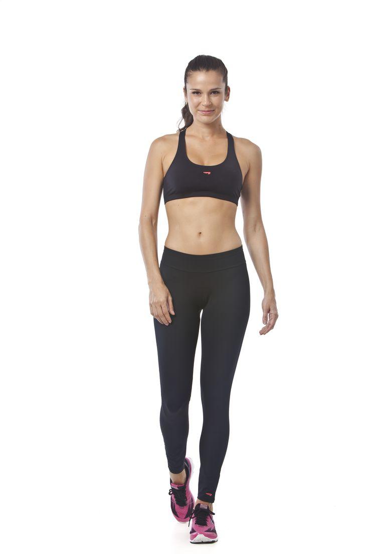 RAINHA COMPRESSION F - Top básico com costas nadador em tecido estruturado de compressão.