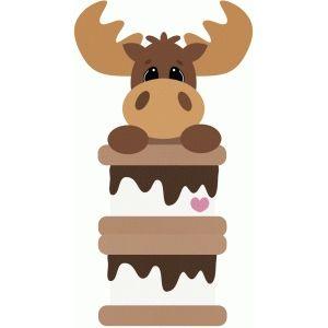 Silhouette Design Store: moose peeker peeking over smores