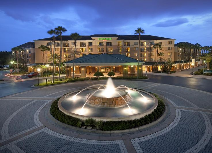 Courtyard Marriott   $110 This Lake Buena Vista hotel is located one mile from Walt Disney World and offers on-site theme park ticket services and free Wi-Fi.