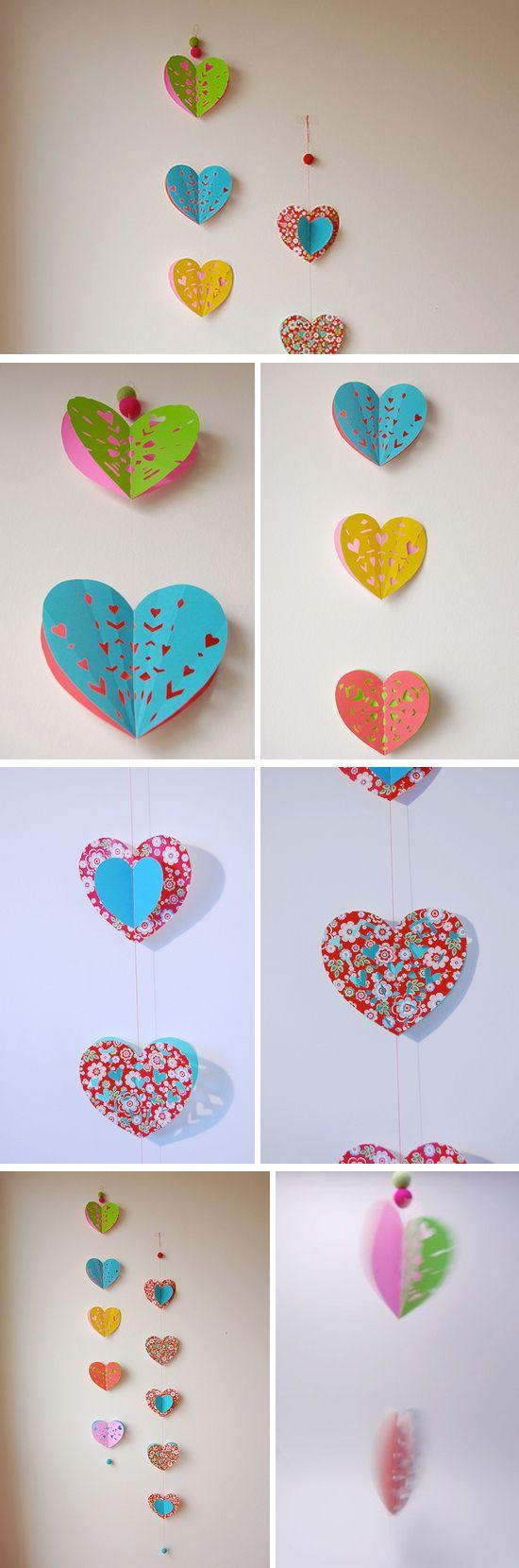 heart paper garland <3