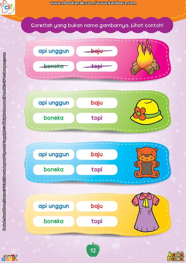 Mencari Kata Atau Kalimat Yang Sesuai Dengan Gambar Buku Online Membaca Buku Lembar Kerja Kindergarten worksheets online games