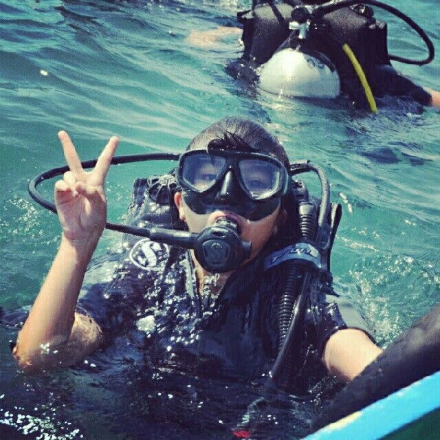 After diving  Bali