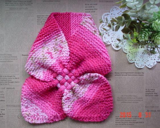 ハンドメイドマーケット minne(ミンネ)| ☆彡passion pink系のガーター編み&交差編みのCowl(段染めとぼかし)