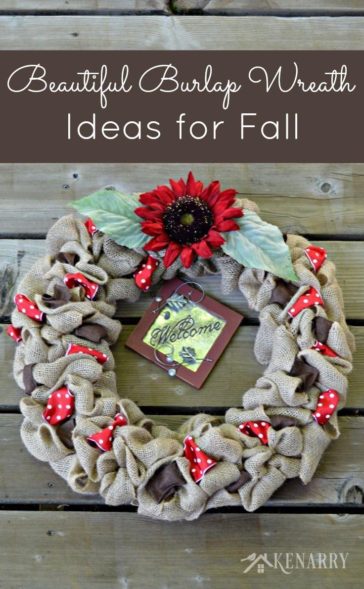 Fall Burlap Wreaths 3 Beautiful DIY Craft