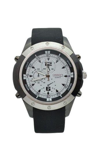 Ανδρικό ρολόι με λουράκι καουτσούκ K89615-WH