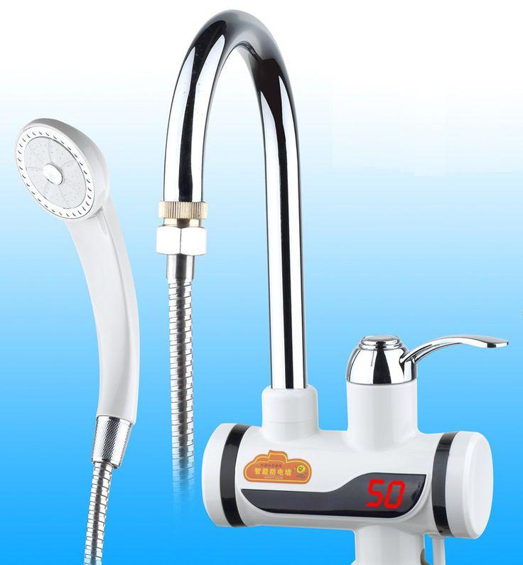 BDS3000W-22, Pantalla Digital Ducha Eléctrica Grifo de Agua Caliente Instantánea, Sin Tanque Grifo Eléctrico, Calentador de Baño Digital