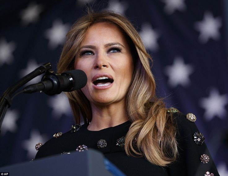 In a rare speech for Mrs Trump, the first lady addressed US military personnel at a naval base in Italy on Saturday ahead of the trip back to Washington with Donald Trump.
