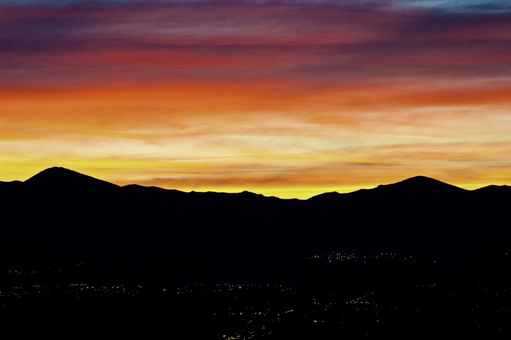 Sunset over the Oquirrh Mountains in the Salt Lake Valley. Photo by Charles Schmalz
