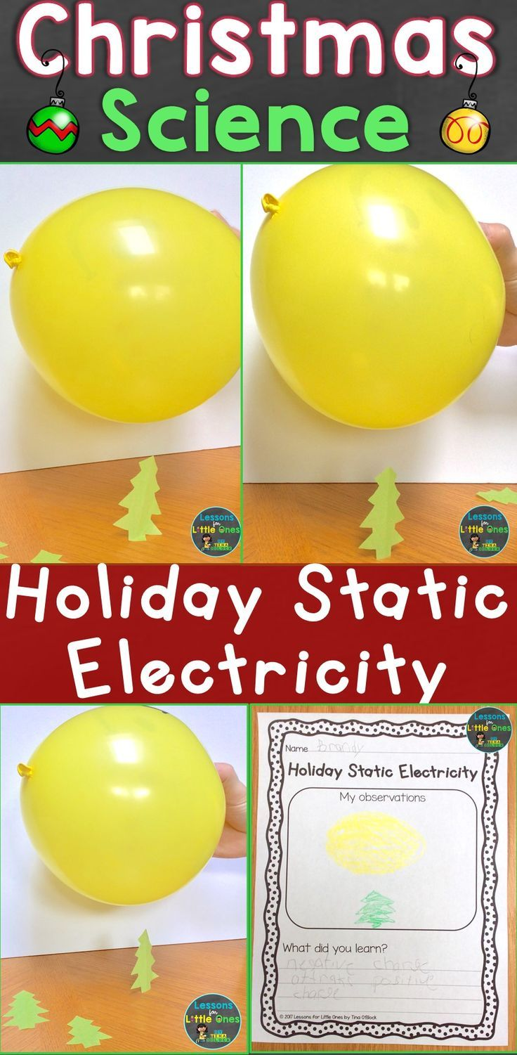 Christmas science experiments for kids that will keep them engaged & learning the weeks before & after Christmas. 12 Christmas science experiments on the blog including this fun holiday static electricity activity #scienceforkids #christmasforkids #Christmasscience #staticelectricity