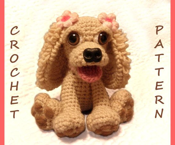 Stella the Cocker Spaniel Dog PDF Crochet Pattern by luvbug026, $5.50 SOMEONE MAKE THIS FOR ME IN BLACK!