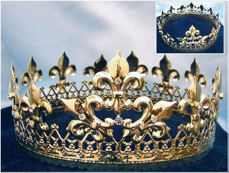 Magestic Queen King Full Gold Crown