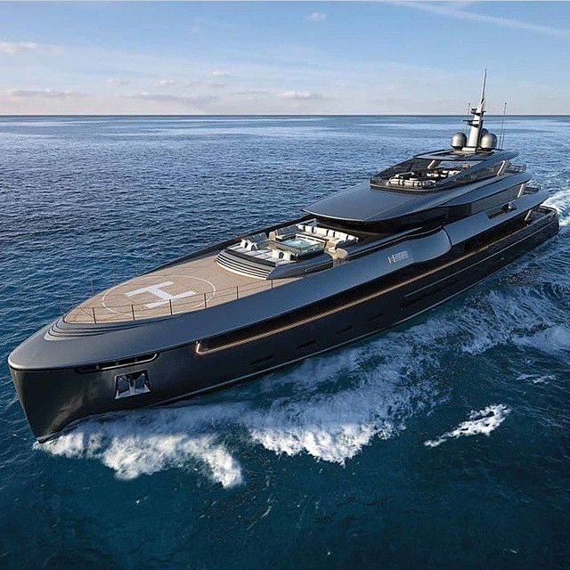 just in case you need a yacht with your own helicopter pad: the 187ft Edios M57