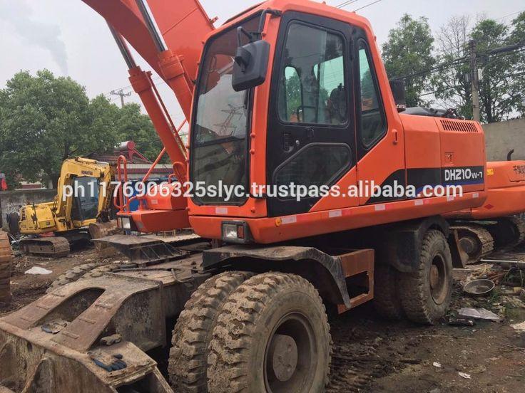 """Used Doosan DH210W-7 Wheel Excavator for sale, Second-hand Doosan Hydraulic Wheel Excavator DH210W-7 DH210W DH210-7"""