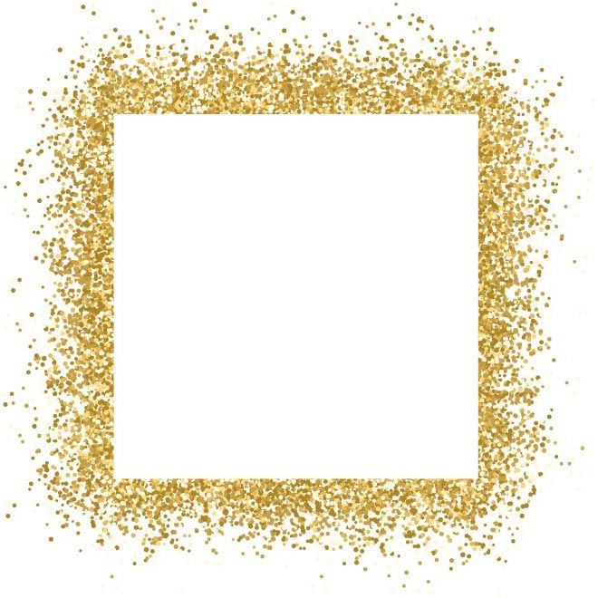 free vector Gold glitter frame sparkles on white background