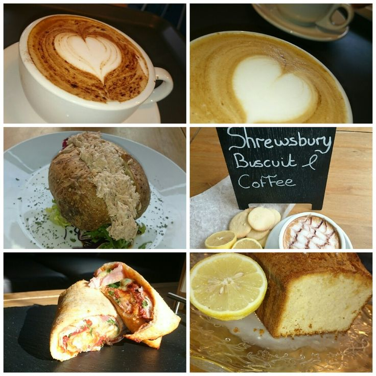 Coffee Jacket potatoes flatbread wrap lemon drizzle Shrewsbury biscuit jacket potato and tuna