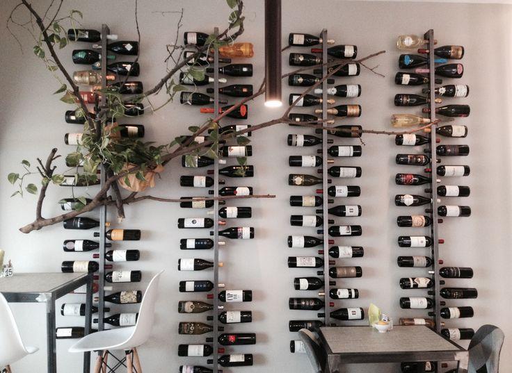 Bottigliera vini in ferro spazzolato