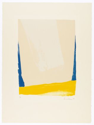 White Portal. 1967, Helen Frankenthaler, Lithograph, composition: 19 3/16 x 14 5/8 in.; sheet: 29 15/16 x 22 3/8 in., USA