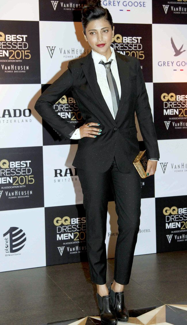 Shruti Haasan at the GQ Best Dressed Men 2015 - #GQBestDressed. #Bollywood #Fashion #Style #Beauty