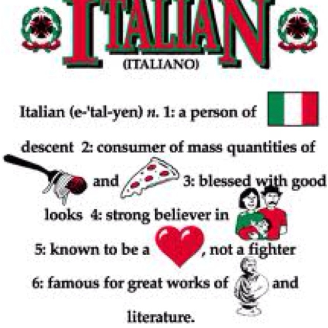 haha idk bout the not a fighter. some of us italians run in packs known as mafia. nothing beats a family bond.