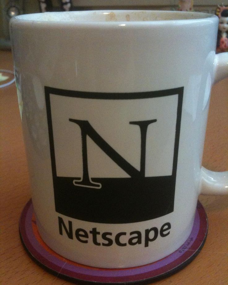 with a Netscape Mug