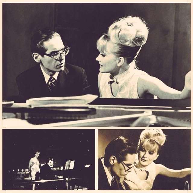 """""""Talent is cheap, and many talents treat themselves cheaply"""" - Bill Evans pictured with Monica Zetterlund."""