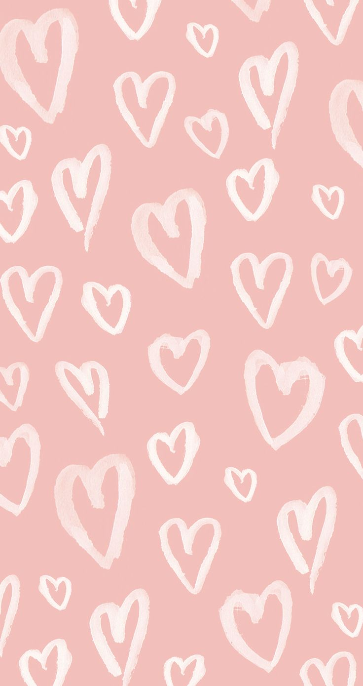 Iphone wallpapers tumblr chevron - Pastel Pink Hearts Iphone Wallpaper Panpins