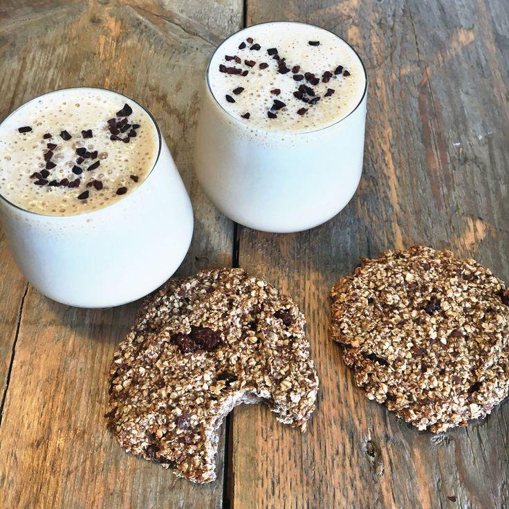 recept havermout koekjes en iced proteïn cappuccino