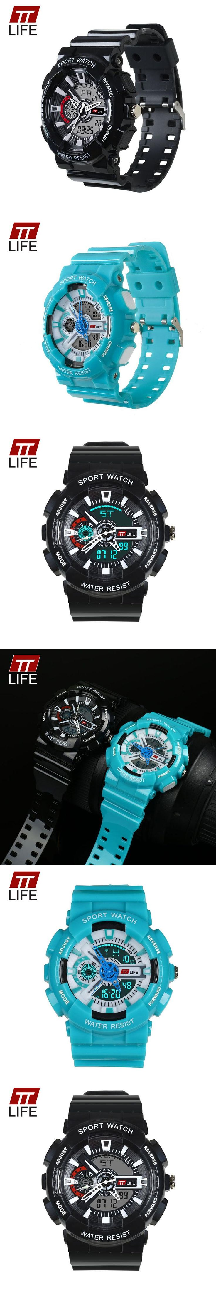 TTLIFE 2017 Brand Watches Mens LED Digital Watch G Style Watch Waterproof Sport Military Shock Watches for Men relojes hombre