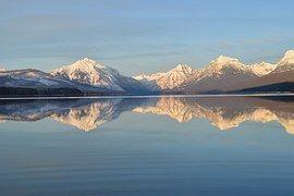 Lago Mcdonald, Panorama, Montagne