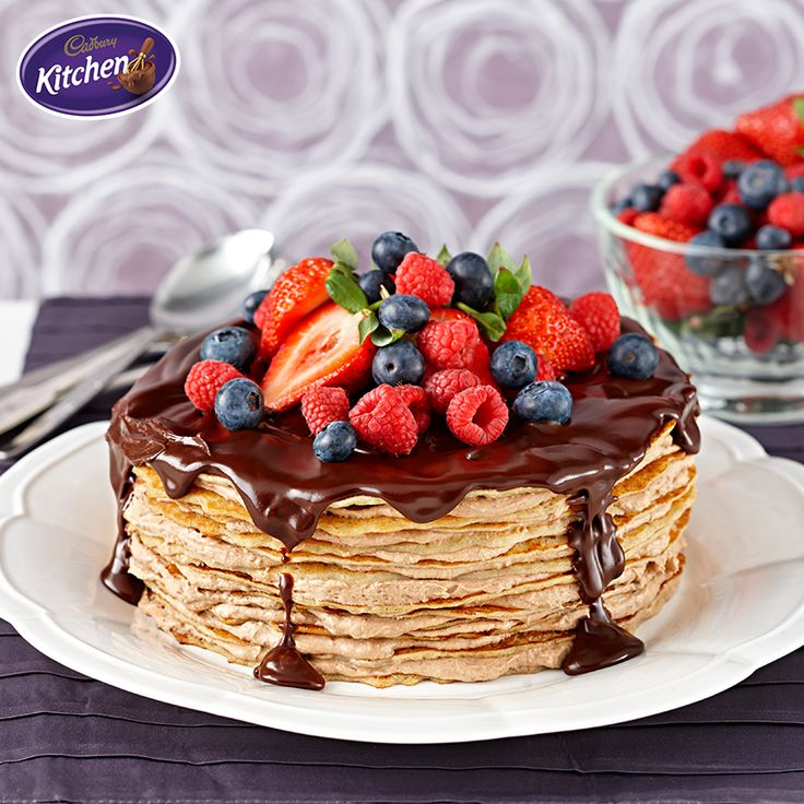 Try something a little lighter this Pancake Tuesday. Start your day the best possible way with this Tiramisu Chocolate Crepe Layer Cake! Why not serve with fresh fruits and melted CADBURY chocolate for an indulgent twist on a classic French dessert? - Trish