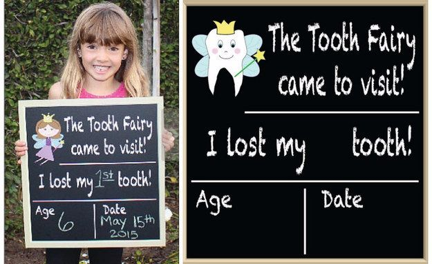 Commemorate each lost tooth with this chalkboard. | 19 Tooth Fairy Ideas That Are Borderline Genius