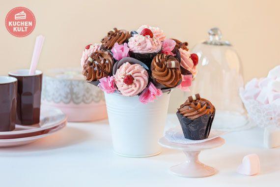#Muttertag, #Cupcakes #Strauß, #Geschenk, #Idee ; #Mother's Day, #Gift, cupcake-bouquet