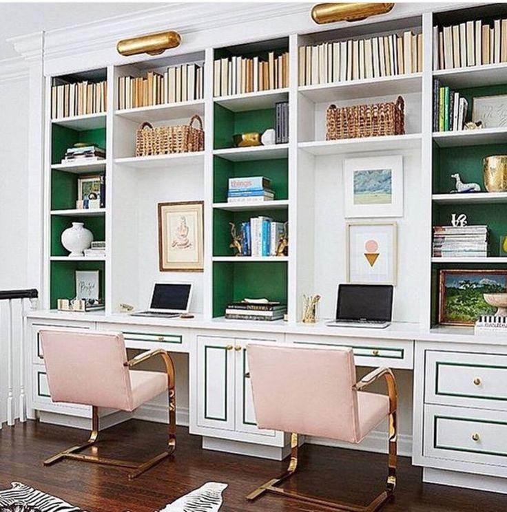 Work In Coziness 20 Farmhouse Home Office Décor Ideas: Best 20+ Painted Built Ins Ideas On Pinterest