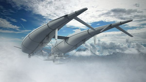 Flying home. The designer Timon Sager offers to travel in very unusual way – in the sky. He created home concept Wolke 7 that perfectly blends a flying structure with a comfortable home. Сreative blend of dirigible and modern house.