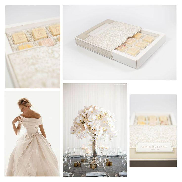 Elegant wedding chocolate gifts