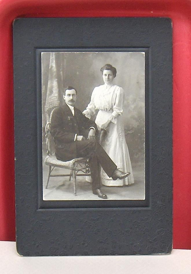 Vintage Photo Young Couple Studio Picton  Ontario, Canada