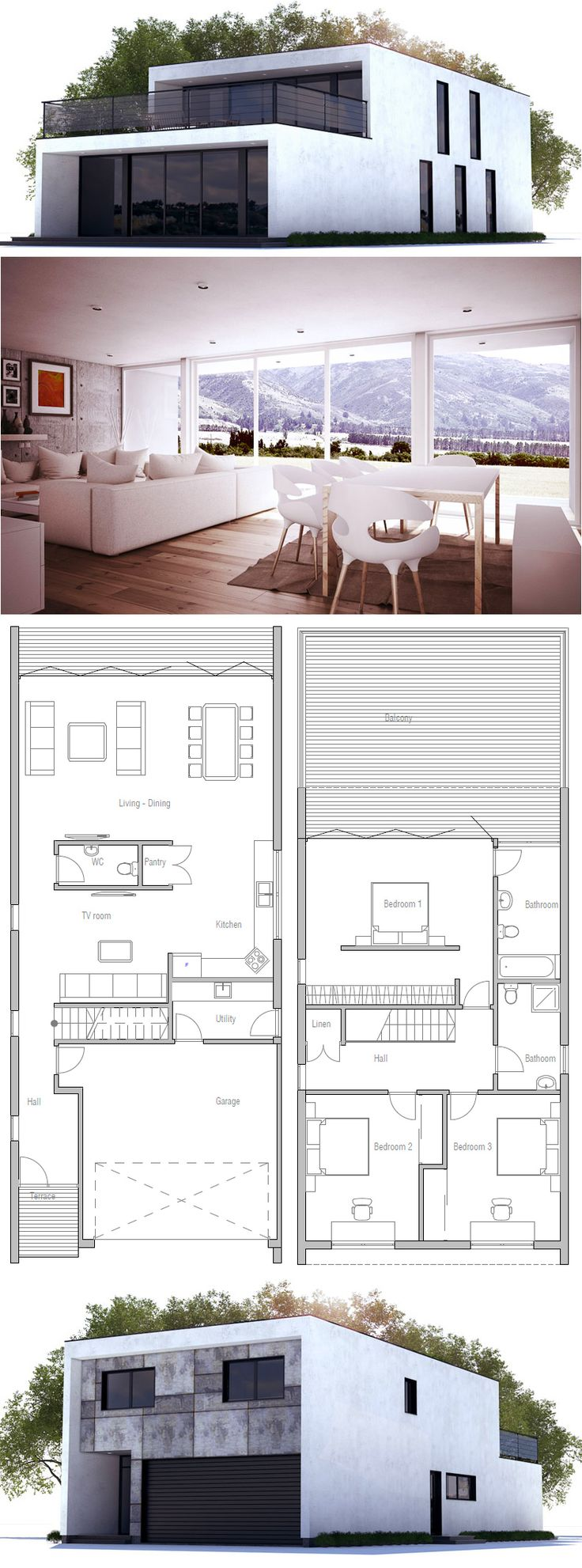 Home Plans Nice Interior And Exterior Home Design With: 188 Best Images About House Plans, Contemporary Modern
