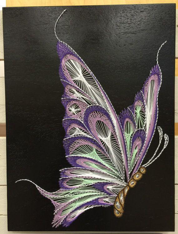 Cadena arte de mariposa por StringTheoryVan en Etsy                                                                                                                                                                                 Más