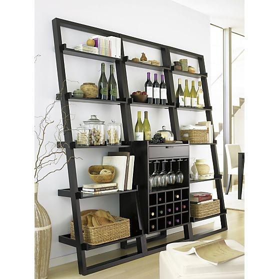 Sloane Espresso Leaning Wine Bar In Dining Kitchen