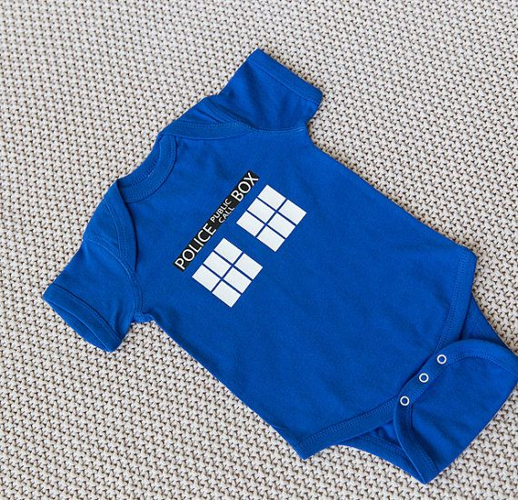 Doctor Who Baby Onesie Geeky Baby Onesie Nerdy by BuzzBearTees