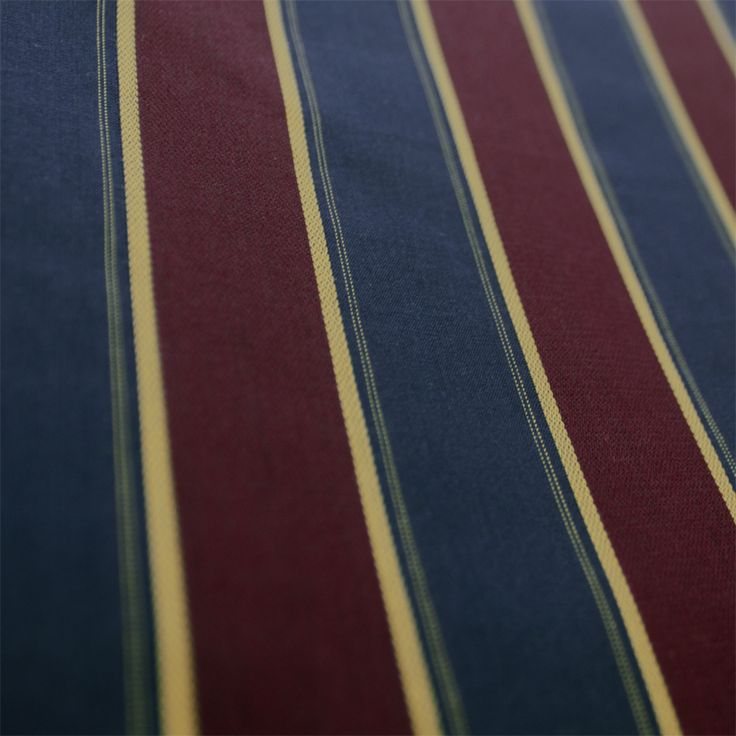 Contare Navy and Burgundy Satin Stripe Weave