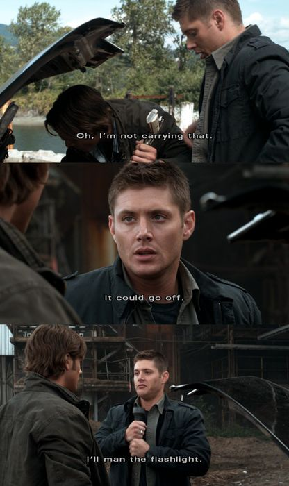 """you do that""   Supernatural - Season 4, Episode 6: Yellow Fever. This episode was hilarious!"