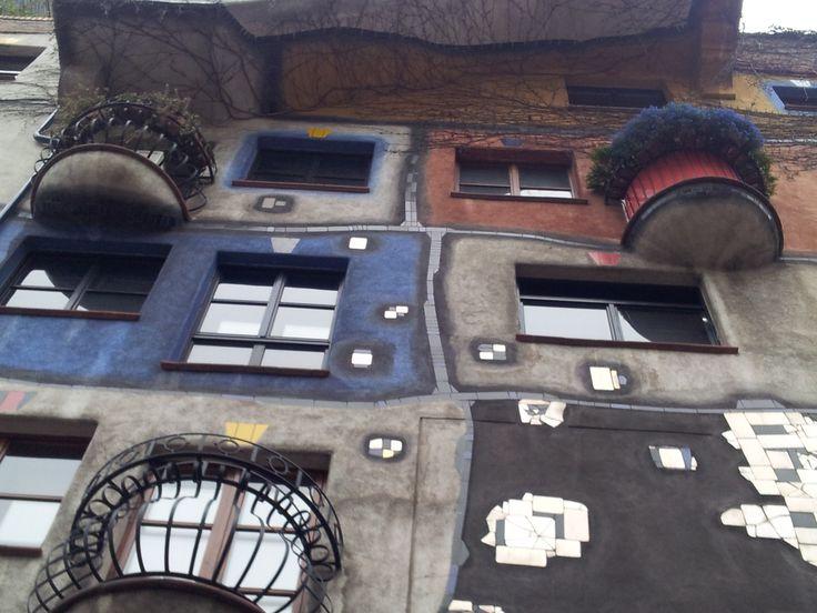 Austria,Vienna Hunderwasse house