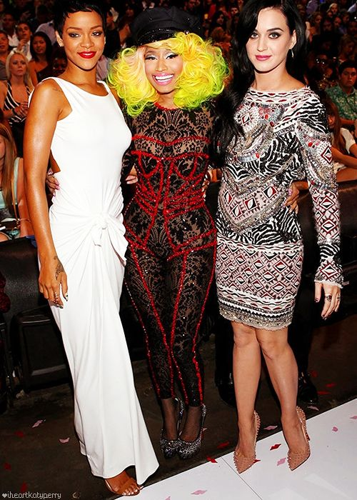Katy, Rihanna and Nicki at the 2012 MTV Video Music Awards - September 6th
